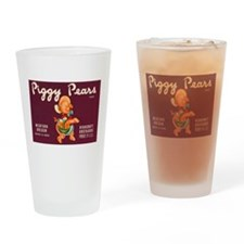 Piggy Pears Drinking Glass