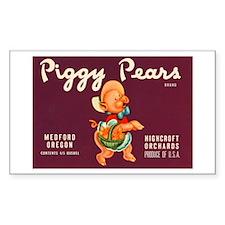 Piggy Pears Decal