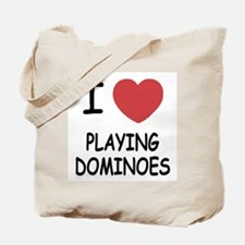 I heart playing dominoes Tote Bag