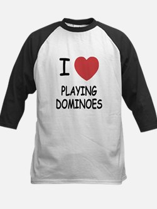 I heart playing dominoes Kids Baseball Jersey