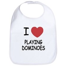 I heart playing dominoes Bib