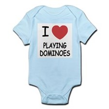 I heart playing dominoes Infant Bodysuit