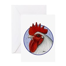 Orpington Rooster Circle Greeting Card