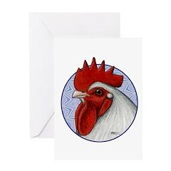 Orpington Rooster Circle Greeting Card