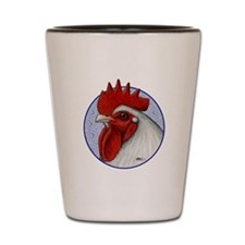 Orpington Rooster Circle Shot Glass
