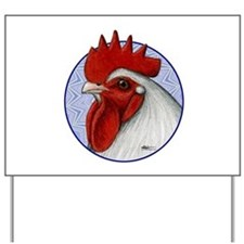 Orpington Rooster Circle Yard Sign