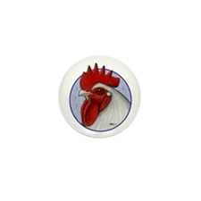 Orpington Rooster Circle Mini Button (100 pack)