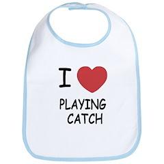 I heart playing catch Bib