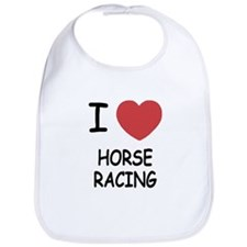 I heart horse racing Bib