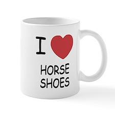 I heart horse shoes Mug