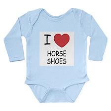 I heart horse shoes Long Sleeve Infant Bodysuit