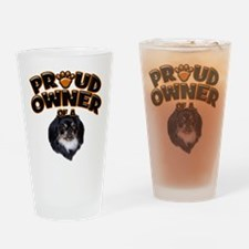 Proud Owner of a Pekingese Drinking Glass