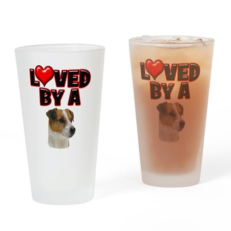 Loved by a Jack Russell Drinking Glass