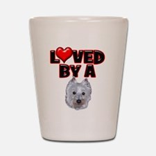 Loved by a Westie Shot Glass