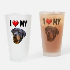 I Love My Rottweiler 2 Drinking Glass