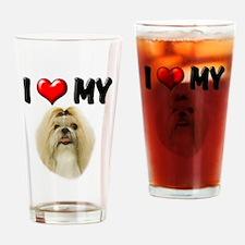 I Love My Shih Tzu Drinking Glass