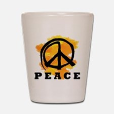 Peace Orange Shot Glass