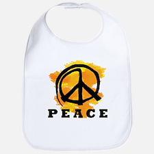 Peace Orange Bib