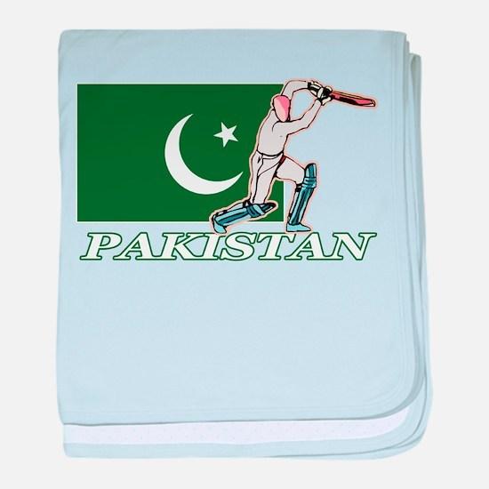 Pakistan Cricket Player baby blanket