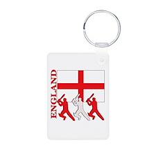 England Cricket Aluminum Photo Keychain