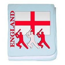 England Cricket baby blanket