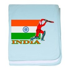 India Cricket Player baby blanket