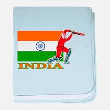 India Cricket Player baby blanket