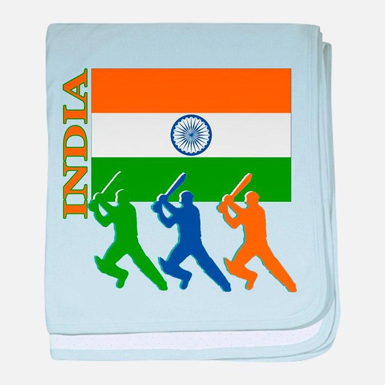 India Cricket baby blanket