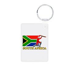 South Africa Cricket Player Aluminum Photo Keychai