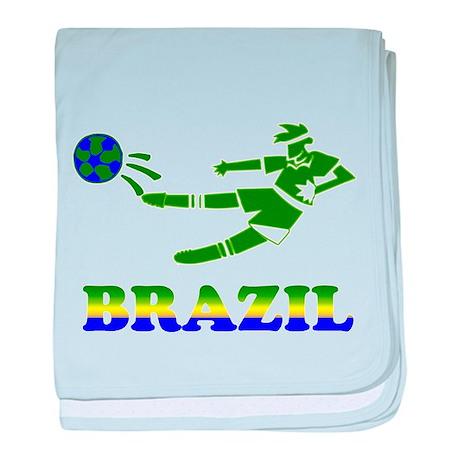 Brazil Soccer Player baby blanket