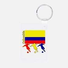 Colombia Soccer Keychains