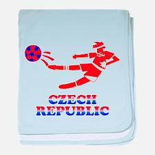 Czech Soccer Player baby blanket
