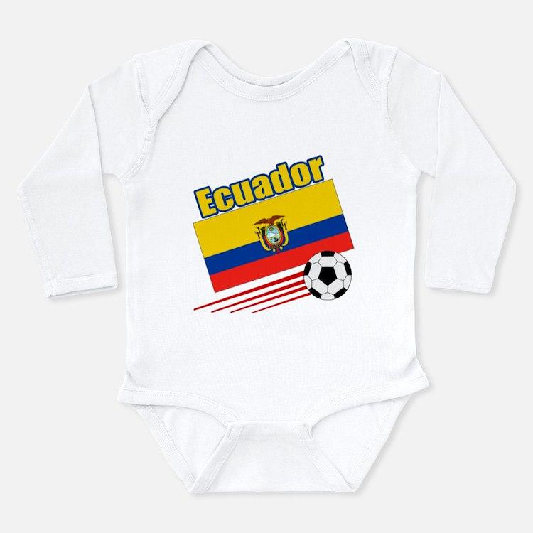 Ecuador Soccer Team Long Sleeve Infant Bodysuit