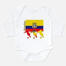 Ecuador Soccer Long Sleeve Infant Bodysuit