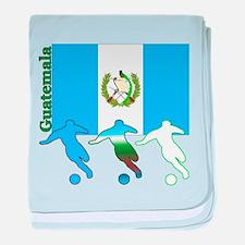 Guatemala Soccer baby blanket