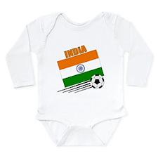 India Soccer Team Long Sleeve Infant Bodysuit