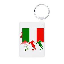 Italy Soccer Aluminum Photo Keychain