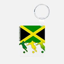 Jamaica Soccer Keychains