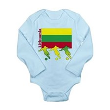 Lithuania Soccer Long Sleeve Infant Bodysuit