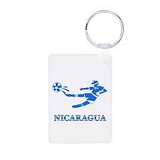 Nicaragua Soccer Player Keychains