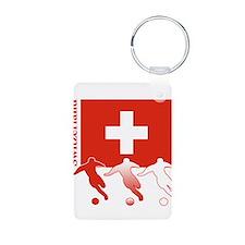 Switzerland Soccer Keychains