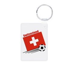 Switzerland Soccer Team Aluminum Photo Keychain