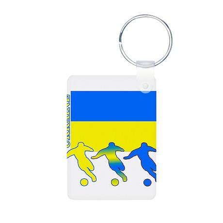 Ukraine Soccer Aluminum Photo Keychain