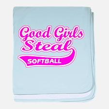 Good Girls Steal (pink) baby blanket