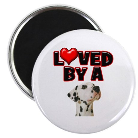 """Loved by a Dalmation 2.25"""" Magnet (100 pack)"""
