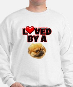Loved by a Pekingnese Sweatshirt