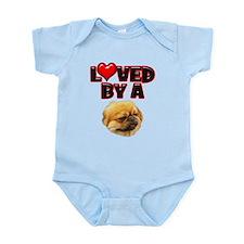 Loved by a Pekingnese Infant Bodysuit