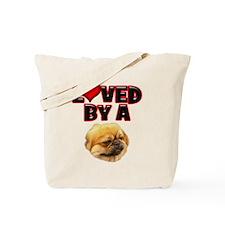 Loved by a Pekingnese Tote Bag
