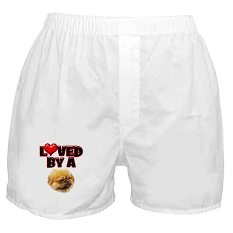 Loved by a Pekingnese Boxer Shorts