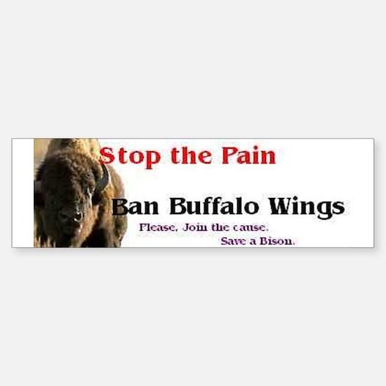 Buffalo Wings Bumper Car Car Sticker